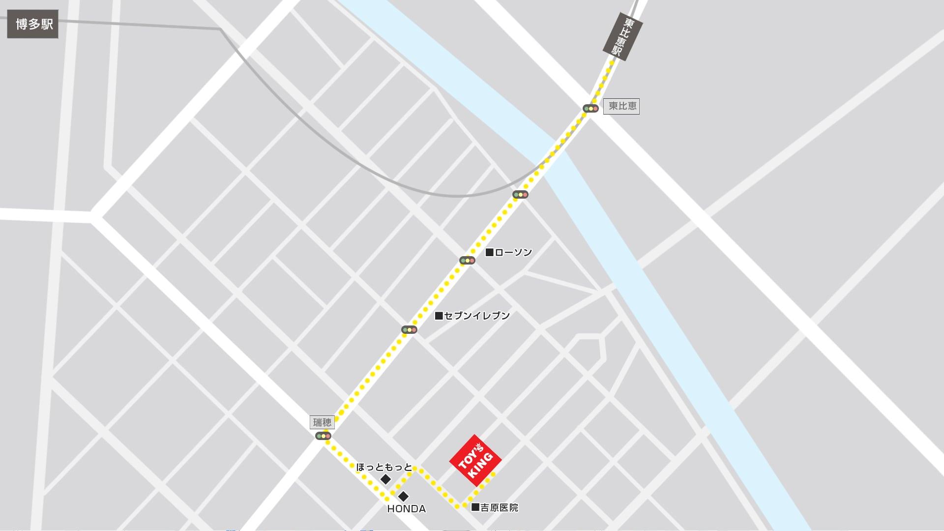 トイズキング九州買取センターMAP