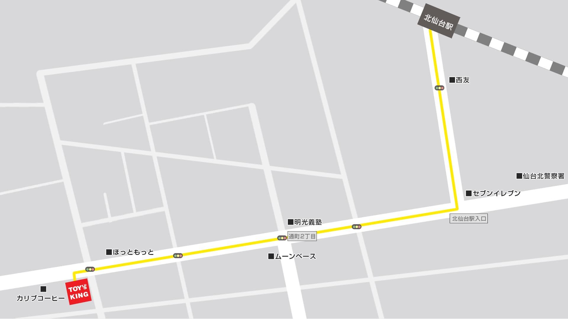 トイズキング仙台買取センターMAP