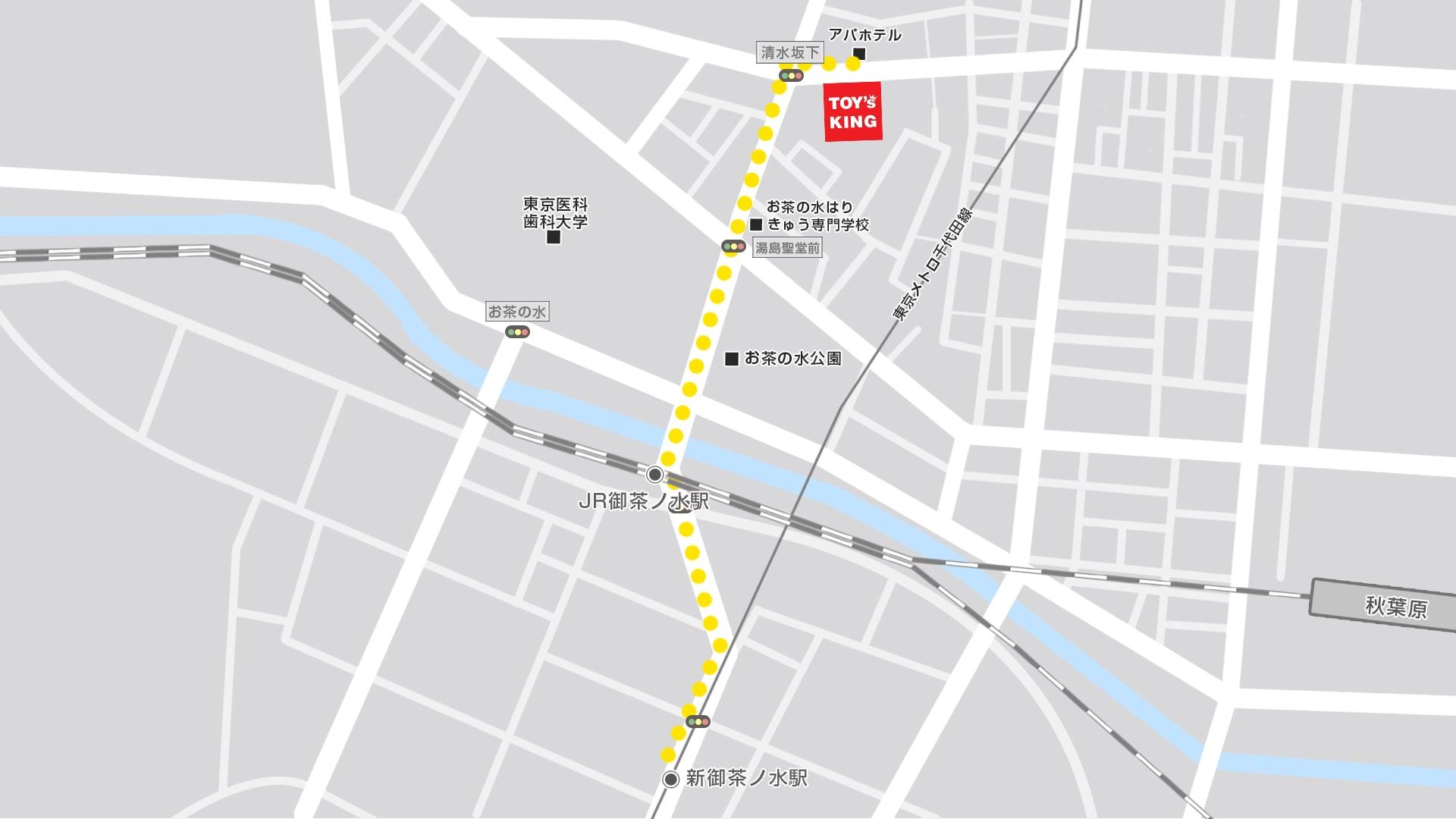 トイズキング東京買取センターMAP